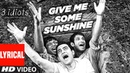 Give Me Some Sunshine Lyrical Video 3 Idiots Aamir Khan R Madhavan Sharman Joshi