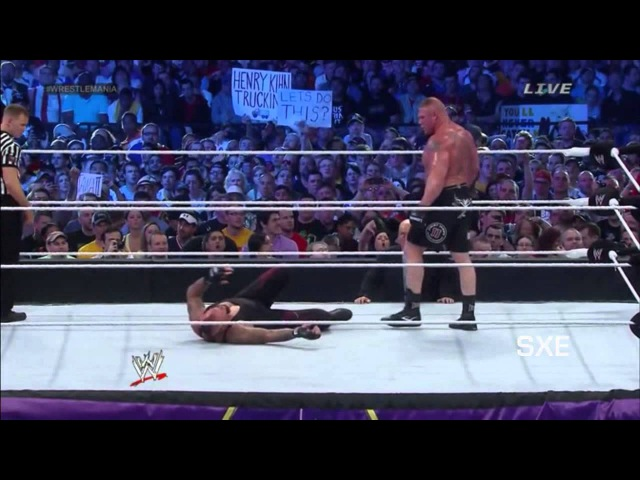 WWE Brock Lesnar Vs Undertaker Wrestlemania 30 Highlights [HD]