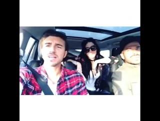 Claudio in macchina con i damellis!