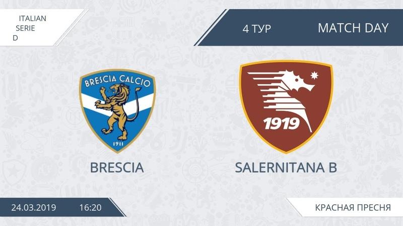 AFL19. Italy. Serie D. Day 4. Brescia - Salernitana B