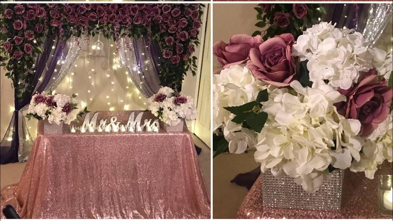 DIY- backdrop decor for any occasion DIY- purple floral decor DIY - elegant decor