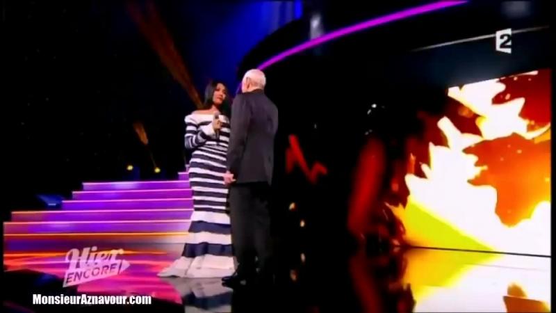 Charles Aznavour Anggun - Les Feuilles Mortes (Live 02.03.2013)