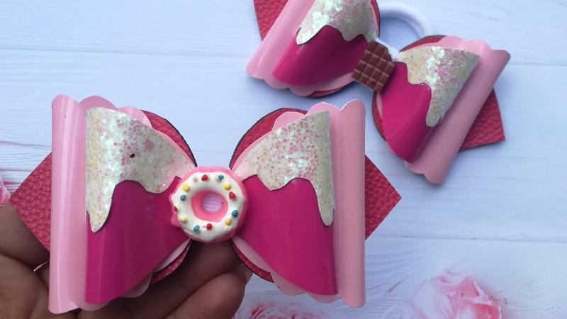 Сладкие бантики из еко-кожи , мк/Sweet Eco Leather Bows