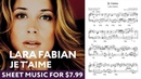 Lara Fabian Je t'aime   Piano cover PDF Sheet music