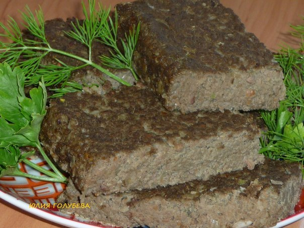 Печеночное суфле в духовке рецепт с фото