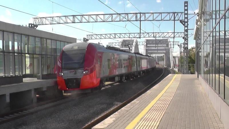 Электропоезд ЭС2Г на станции МЦК Ростокино