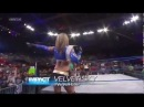 TNA iMPACT 5/9/13 Velvet Sky & Mickie James vs Gail Kim & Tara w/Jesse - Gail Kim Attacks Tara