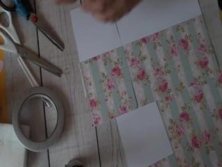 Сборка коробочки для набора с кофе, чаем и конфетами птичье молоко, на двух листах