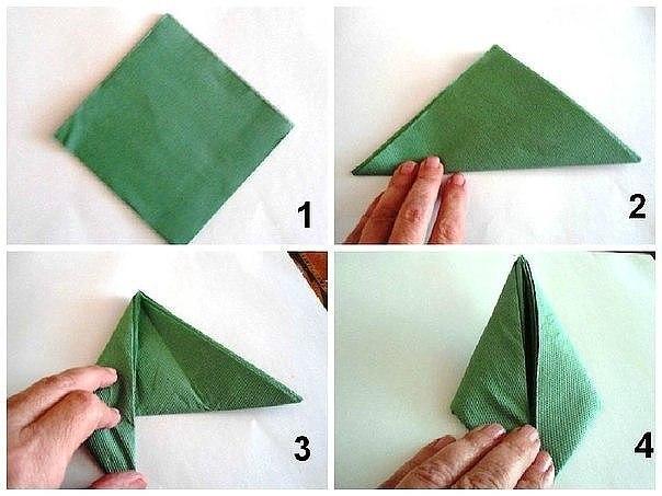 Как сделать лотос из салфеток своими руками видео