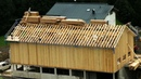 Fastest Unusual Wooden House Build Skills - Amazing Intelligent Log Farm Building Process