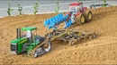 Awesome RC tractors work hard on the field!