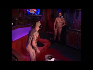 Naked man on the show in public
