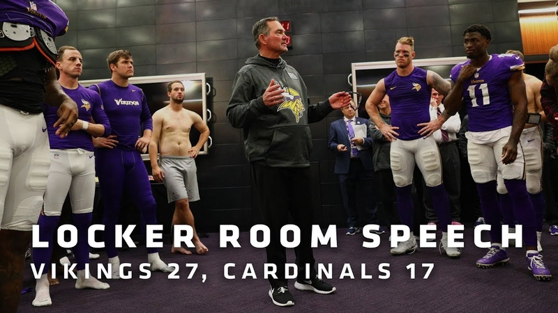 Mike Zimmer's Postgame Locker Speech After Beating the Arizona Cardinals | Minnesota Vikings