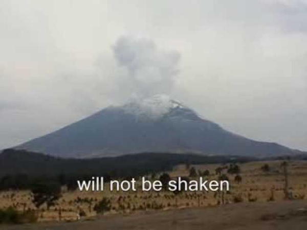 Eruption of Mexicos Vulcan Popocatepetl and Allegory