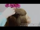 Прическа на среднюю длину волос.