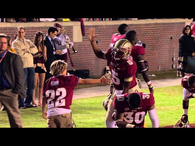 Jameis Winston and Jimbo Fisher's son Trey's elaborate secret handshake