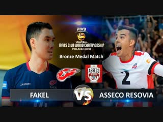 Bronze Medal Match. Asseco Resovia vs Fakel. Highlights. FIVB Club World Championship 2018.