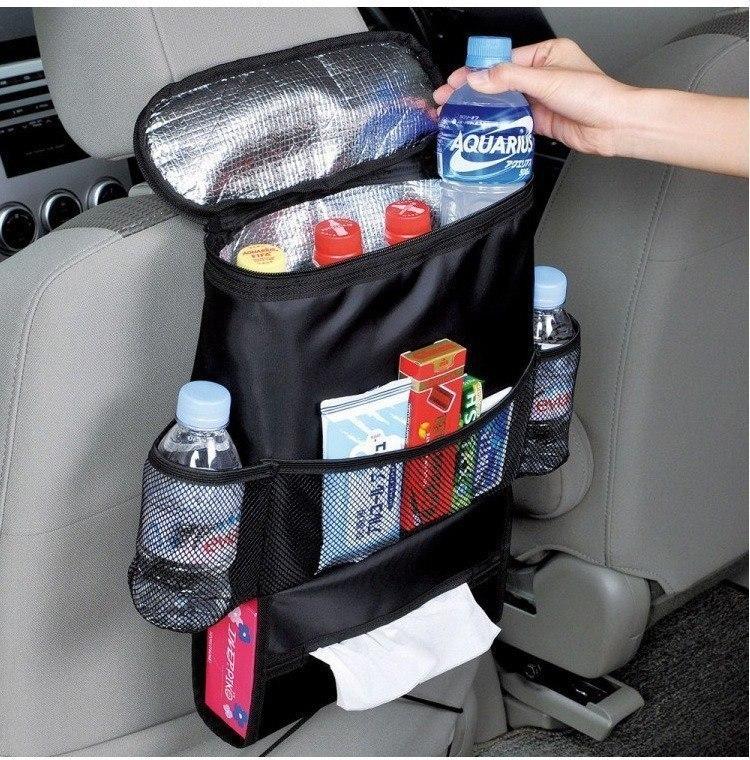 Сумка-холодильник которая крепится на спинку автомобильного сиденья