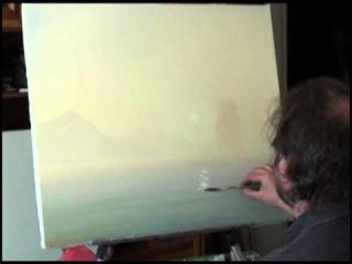 Видео-урок живописи Сахарова. Восход над морем
