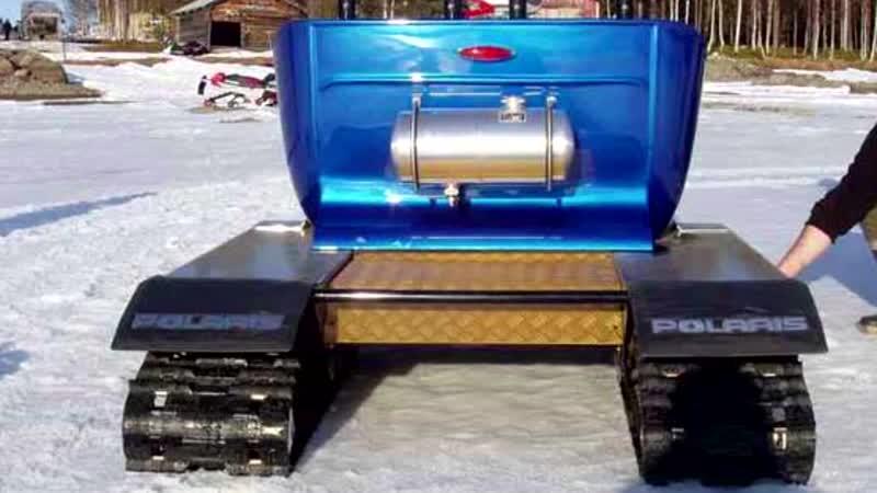 Хот-род на гусеницах Hot Rod snowmobile