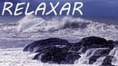 Som de Chuva e Ondas do Mar com Música Relaxante de Fundo - Dormir Bem