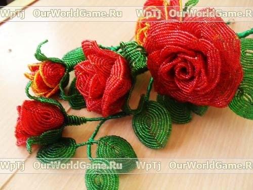 розы из бисера схемы и