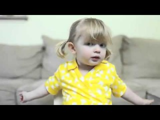 Little Girl wishes happy birthday to her mommy