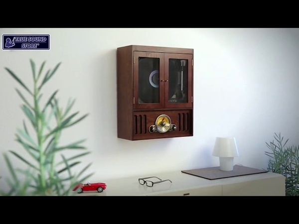 SOUNDMASTER NR600 - Nostalgic Music Center with Vertical Turntable, CDMP3 and USBSD