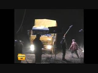 Съёмки сериала «Дальнобойщики 2» 28 марта 2004 г. (Тарусский район, с. Кузьмищево)