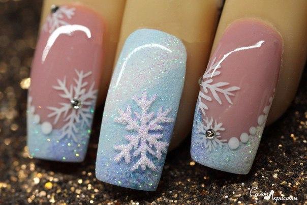 Гель-лак зимний дизайн