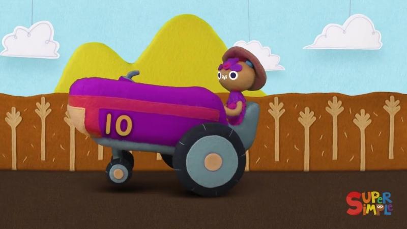 10 Little Tractors | Super Simple Songs