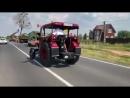 Швейцарцы на тракторе в Калининградской области