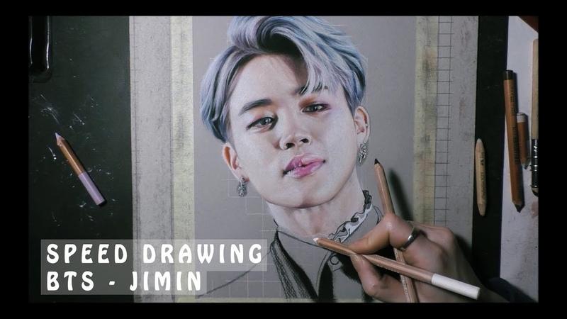 SPEED DRAWING BTS JIMIN portrait in pastel смотреть онлайн без регистрации