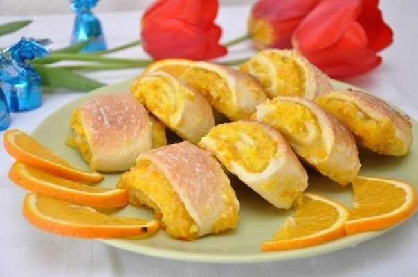 мягкие апельсиновые печенья рецепт фото