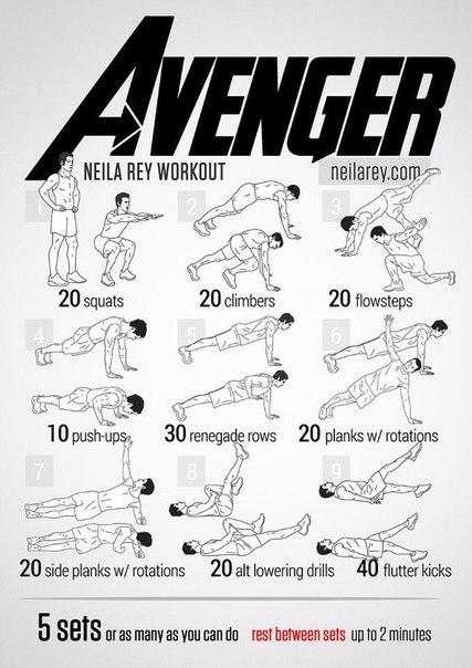 10 комплексов полезных упражнений, которые сделают вас настоящим супергероем.