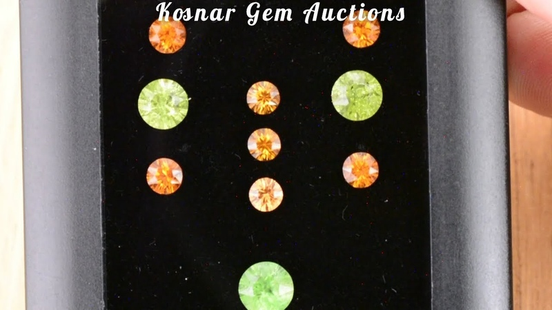 Fun Grossuler and Spessartine Garnet Mixed Gemstone Set from KGC