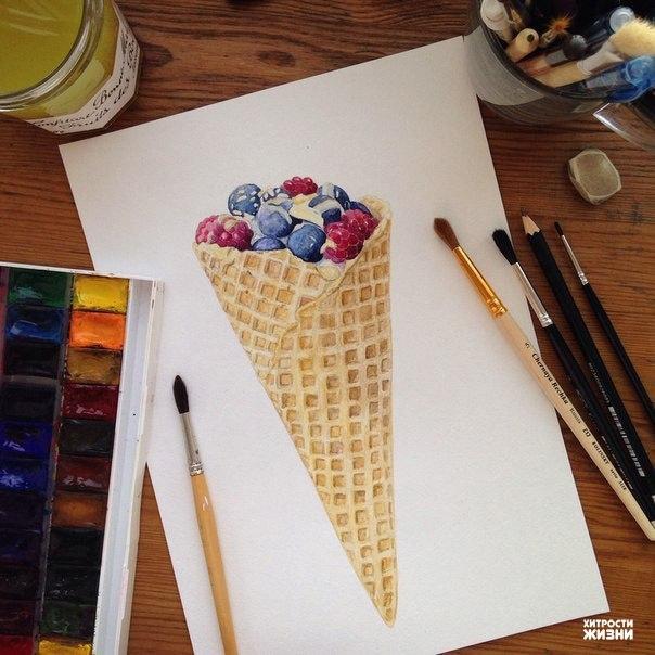 Художник Анастасия Кисурина рисует невероятно красивые и вкусные рисунки. А Вам нравятся?