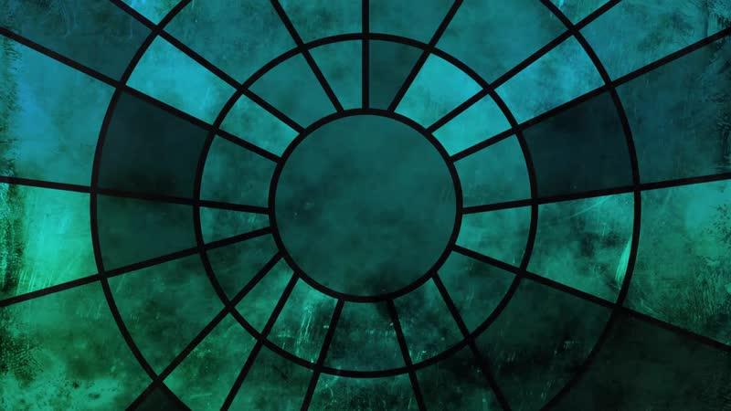 Абстрактный узор мозаики / Abstract Mosaic Circle Stained Glass
