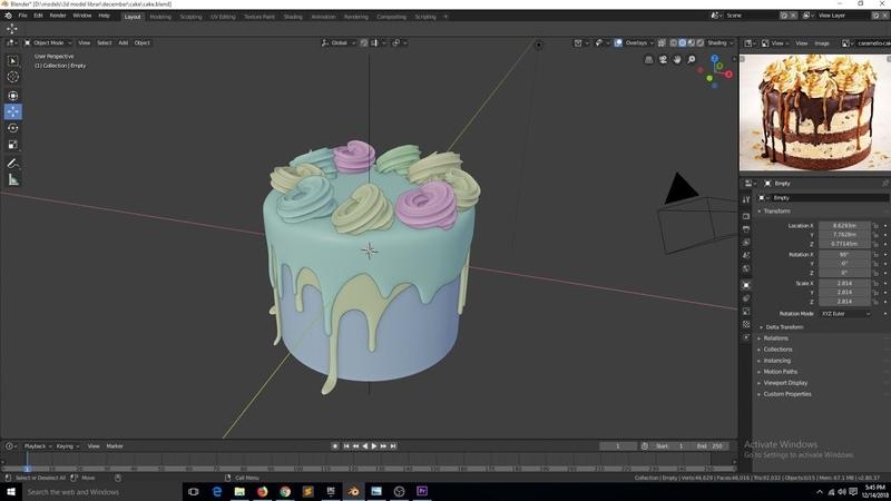 Texturing a cake in blender 2 8 tutorial