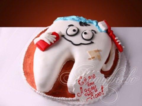 Фото тортов в виду зуба