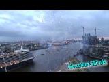 Feuerwerk beim Cunard Day Hamburg 2012 vor Auslauf Queen Elizabeth + Queen Mary 2 (HD / 2D)