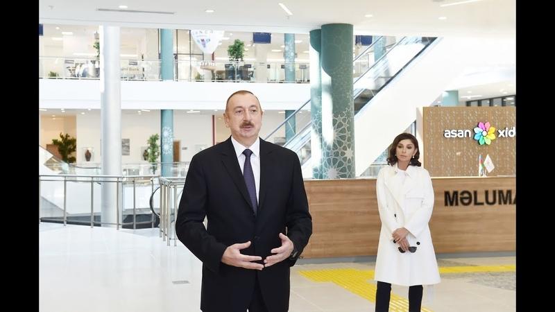 """İlham Əliyevin Şəki """"ASAN Həyat"""" kompleksinin açılışında nitqi"""