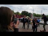 Наталия Орейро - приезд на пресс-конференцию, Витебск 14.07.2018