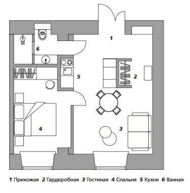 Транзитная квартира в Санкт-Петербурге, 40 м²