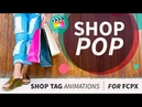 Shopping themed Tags, Badges, Buttons and Titles for Final Cut Pro X