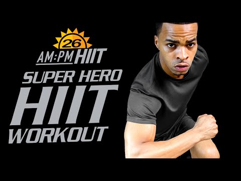 30 Min. Super Hero Themed HIIT Workout   Day 26: AM - AM/PM HIIT Series