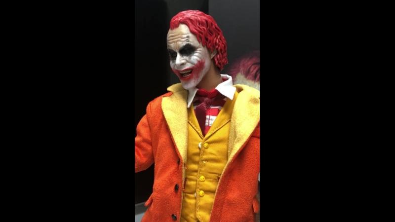 Джокера Хита Леджера в формате 1 6 в стиле клоуна McDonalds от студии Fire
