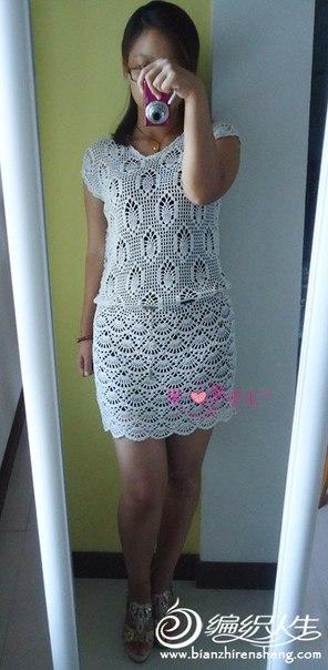 Ажурное платье крючком (4 фото) - картинка