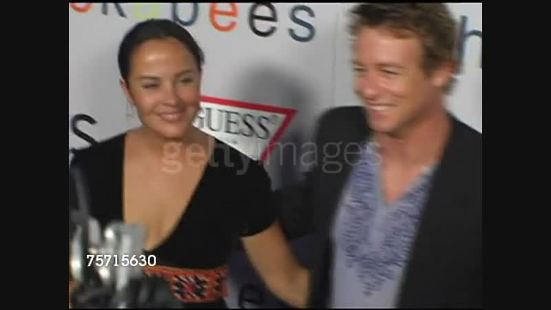 Simon Baker and Rebecca Rigg at the I Heart Huckabees Premiere at the Grove in Los Angeles, California on September 22, 2004.
