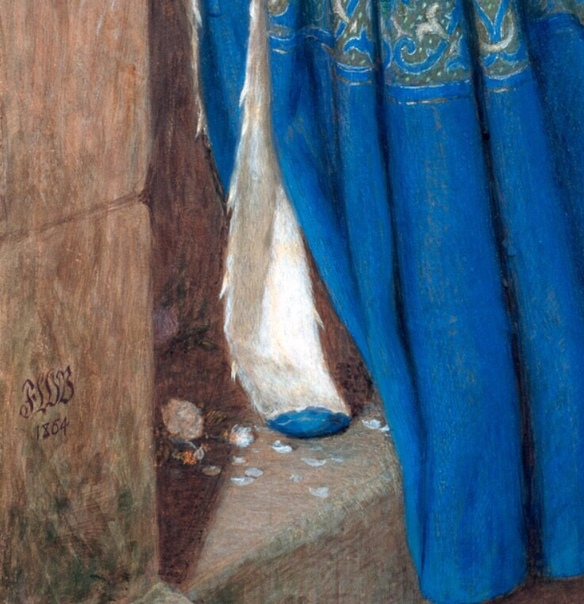 Картина «Встреча на лестнице башни», 1864. Автор: Фредерик Уильям Бёртон